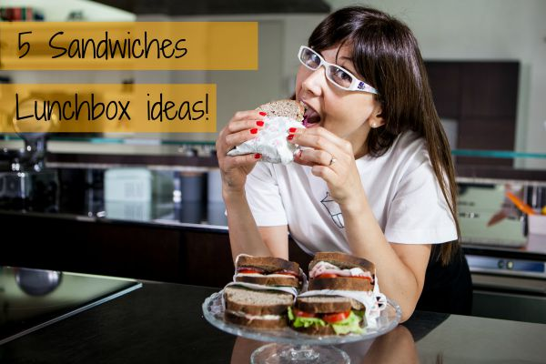 5 sandwiches lunchbox ideas