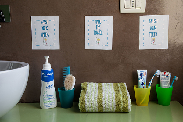 organizzare il bagno