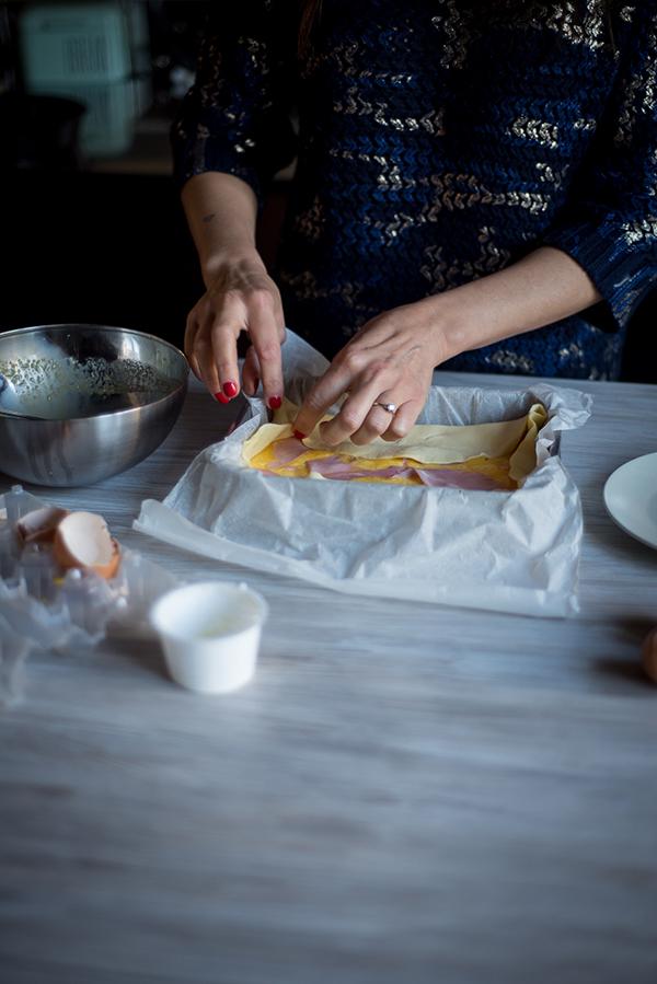 torta salata al prosciutto e formaggio