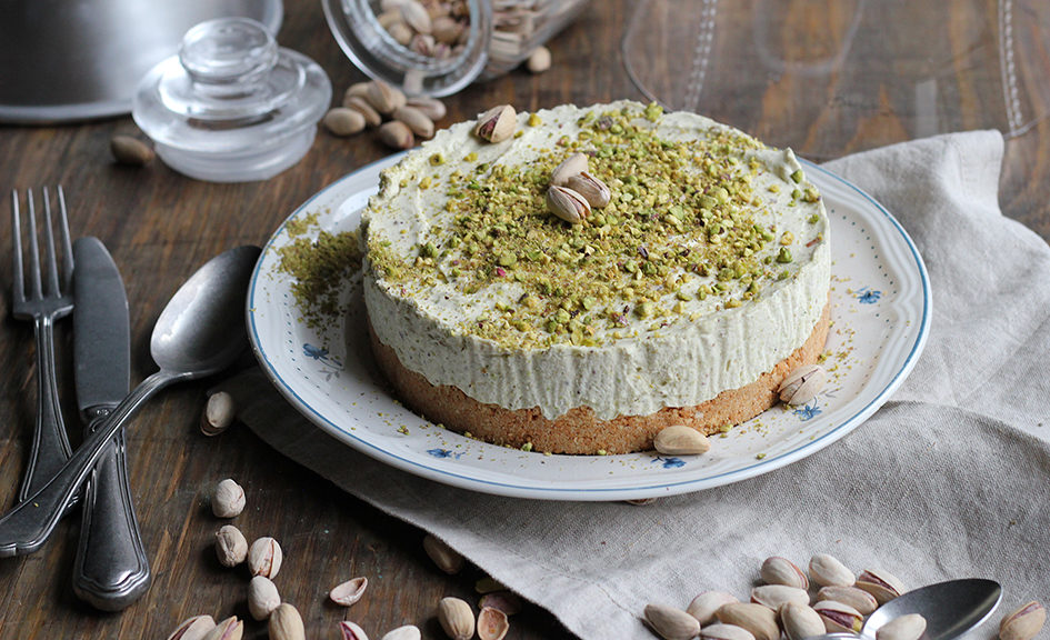 cheesecake al pistacchio - ricominciodaquattro