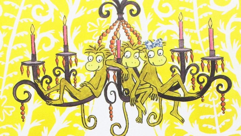 Tre scimmiette dispettose