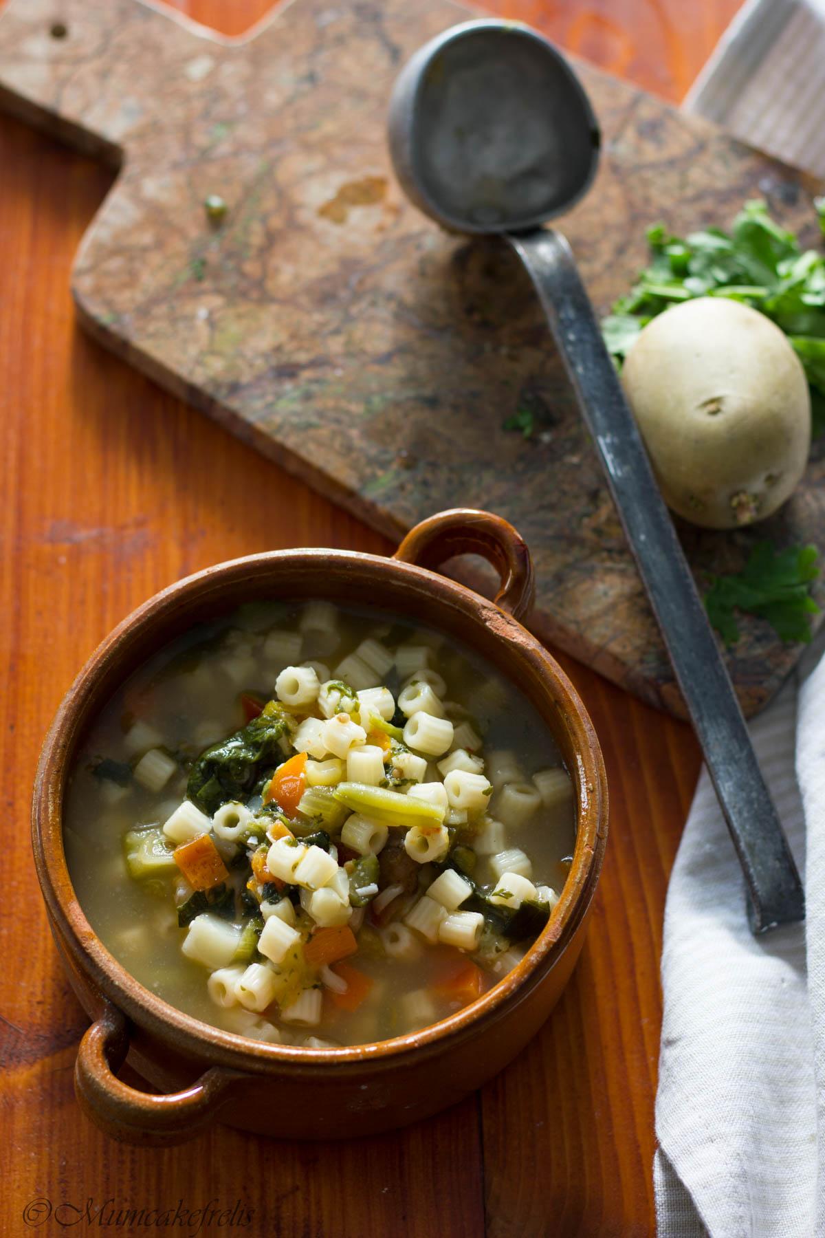 minestrone di verdure Ricominciodaquattro