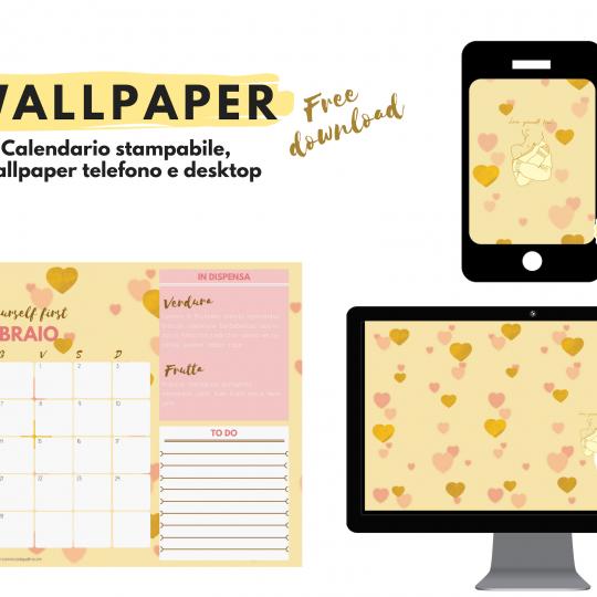 Wallpaper. Sfondi gratuiti per pc, tablet, smartphone e il calendario stampabile di febbraio Ricominciodaquattro