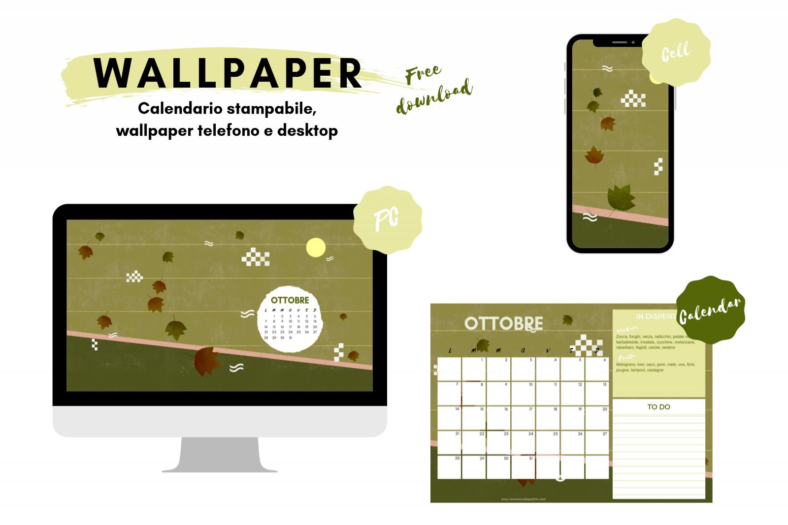 Wallpaper. Sfondi gratuiti per pc, tablet, smartphone e il calendario stampabile di ottobre.