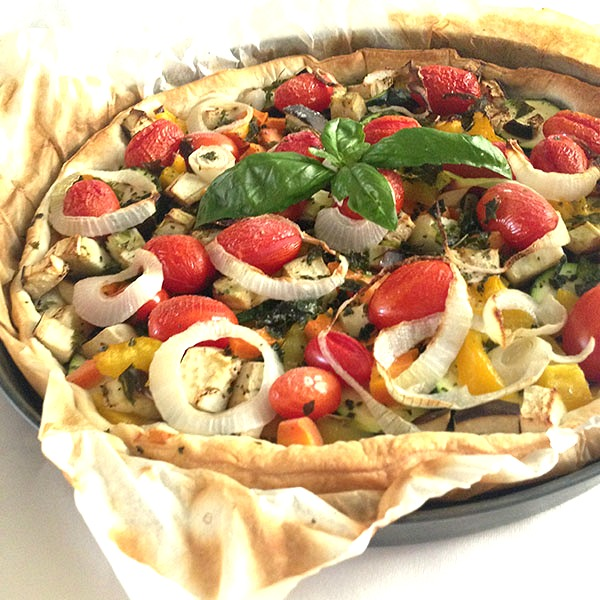 torta salata di verdure