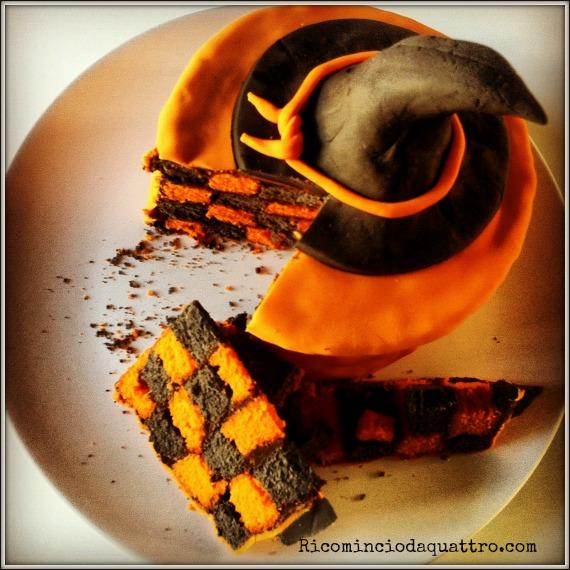 torta a scacchi per halloween